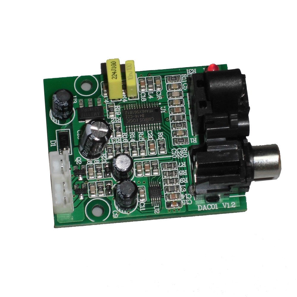<font><b>DAC</b></font> Digital Decoder CS8416+CS4344 Optical Fiber Coaxial Digital Signal Input Stereo Audio Output Decod For Amplifier 24B 192K image