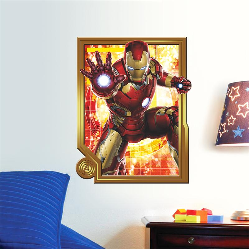 Aliexpress Com Buy Cartoon Movie 3d Iron Man Home Decor Wall Stickers For Kids Bedroom Decoration Sticker Baby Boy Lovely Christmas Toys From Reliable
