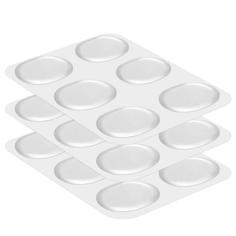 18 Pieces Drum Damper Gel Pads Silicone Drums Silencer For Drums Tone Control-Clear