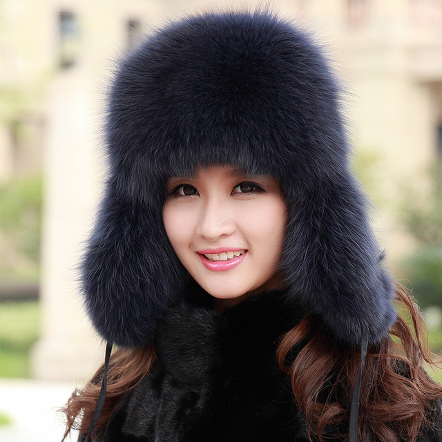 2016 New Pattern Imitate Fox Fur Keep Warm Super Baby Lei Feng Hat Male Earmuffs Snow Hats Leather And Fur Hats 118-8