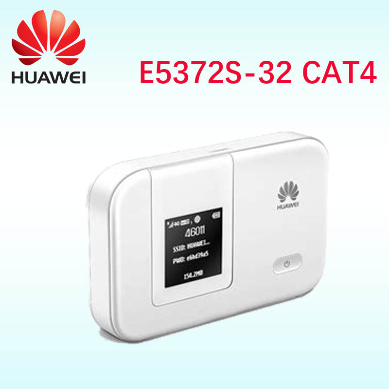4g wifi routeur 150 mbps HUAWEI E5372s-32 4g 3g LTE Poche mifi 4g wifi routeur Mobile hotspot 4g sans fil dongle pk e5573 e5372