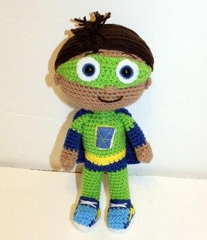 crochet toys  amigurumi  rattle boy  number  w486