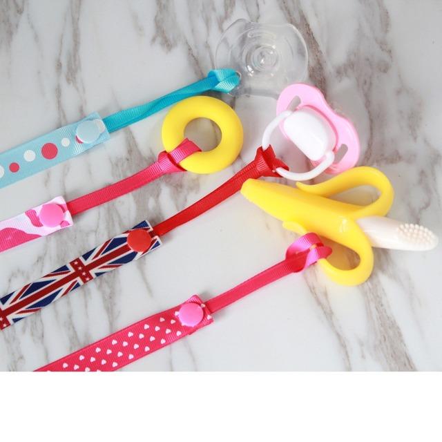Cartoon Baby Pacifier Ribbon Clip