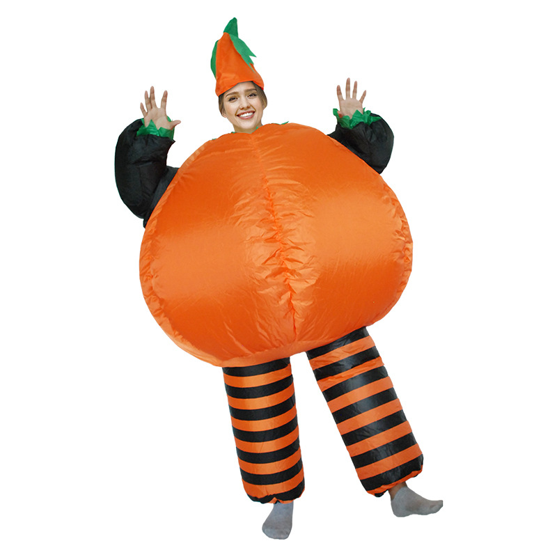 Pumpkin Halloween Adult Cosplay Costumes Cushaw Inflatable Clothes Women Men Christmas Birthday Carnival Party Clothing Fallout