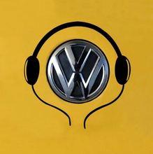 Funny headset listen to music vinyl wall car sticker custom made car decoration fashion crafts design