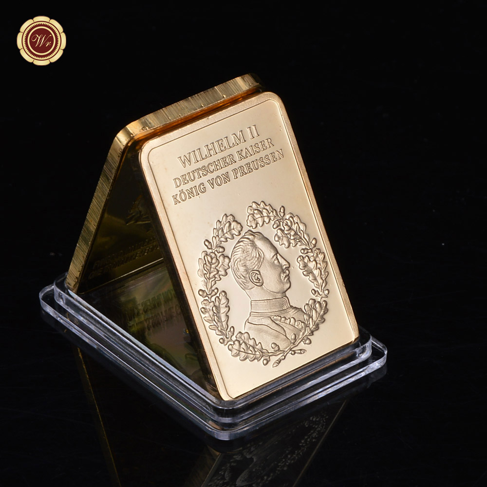1000 Dollar Gold Bar 999 Gold Plated Challenge Bars with USD 1000 Plastic Card