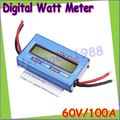 1pcs RC Wattmeter Watt Meter Digital LCD 60V/100A DC Voltage Current Power Balancer Battery Analyze Checker Monitor wholesale