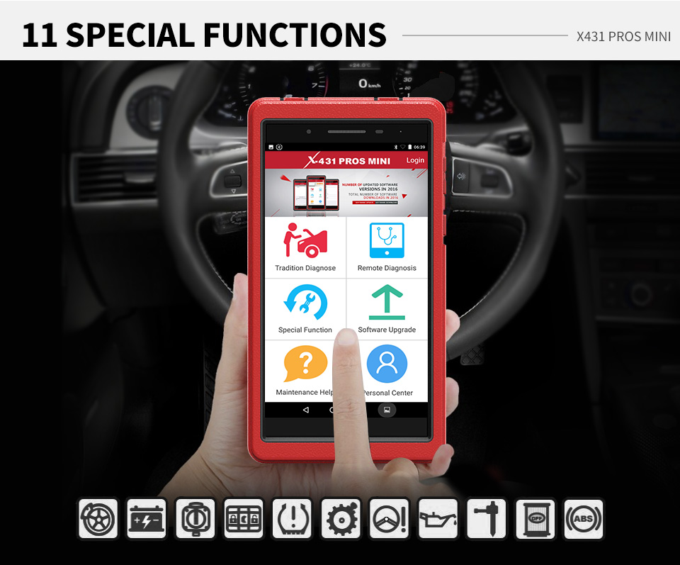 Image 4 - LAUNCH X431 PRO PROS MINI Bluetooth WIFI OBD2 Diagnostic tool Full System Car OBDII Diagnostic Scanner Tool ECU Coding Car Tool-in Battery Measurement Units from Automobiles & Motorcycles
