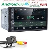 3G Quad Core 2 Din 7 Inch Android 6 0 Universal Car DVD Player Juke Qashqai