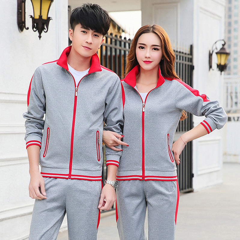 2017 autumn and winter new couples sports running set long-sleeved trousers set outdoor sports golf badminton sweater student ca