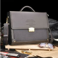 Hot Sale Fashion Composite Leather Briefcase High Quality Laptop Bag Men Free Shipping 14 Notebook Bag