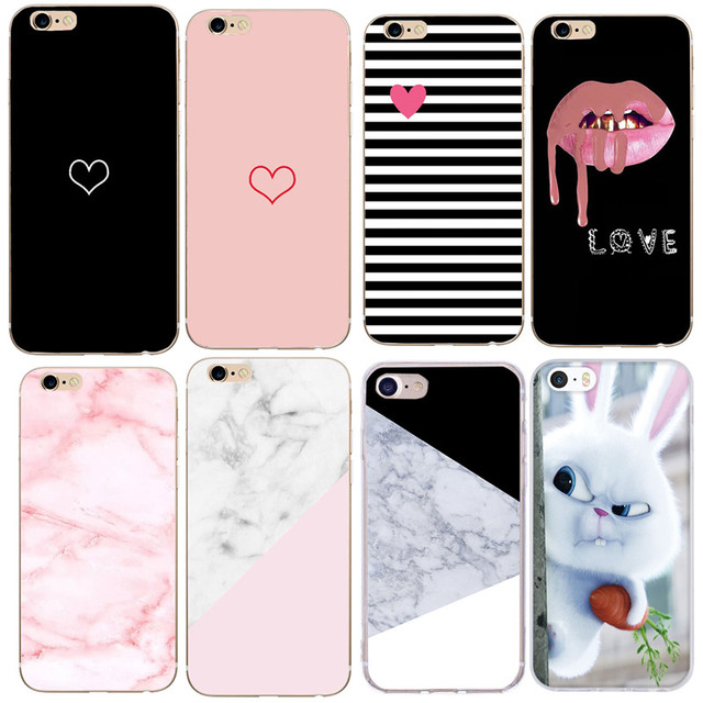 Silicon Cover for funda iphone 6 s case luxury case for iphone 7 8 plus X 5 5S SE Phone cases Soft TPU Fundas Flowers Mickey