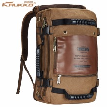 Men backpack Canvas Huge Travel Bag  Shoulder Bag Computer Backpacking Men Functional Versatile Bags  Multifunctional Travel Bag