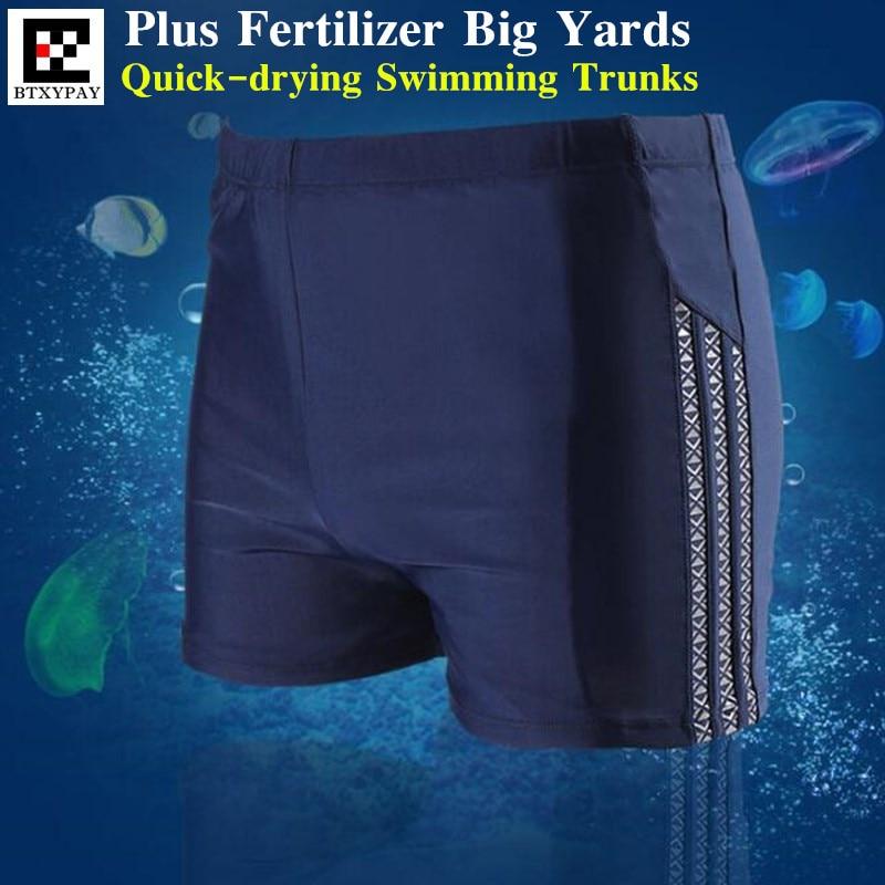 Men's Quick-dry Plus Fertilizer Racing Swimsuit Swimming Trunks Swim Briefs Breathable Swimwear Boxer Board Shorts 6XL Big Yards