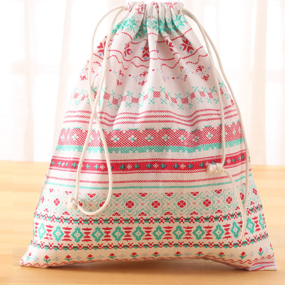 Unisex Cotton Twill Drawstring Travel Organizer Bag Party Gift Bag Mini Printing Bags Drawstring Backpack Hot Sale Wholesale#35