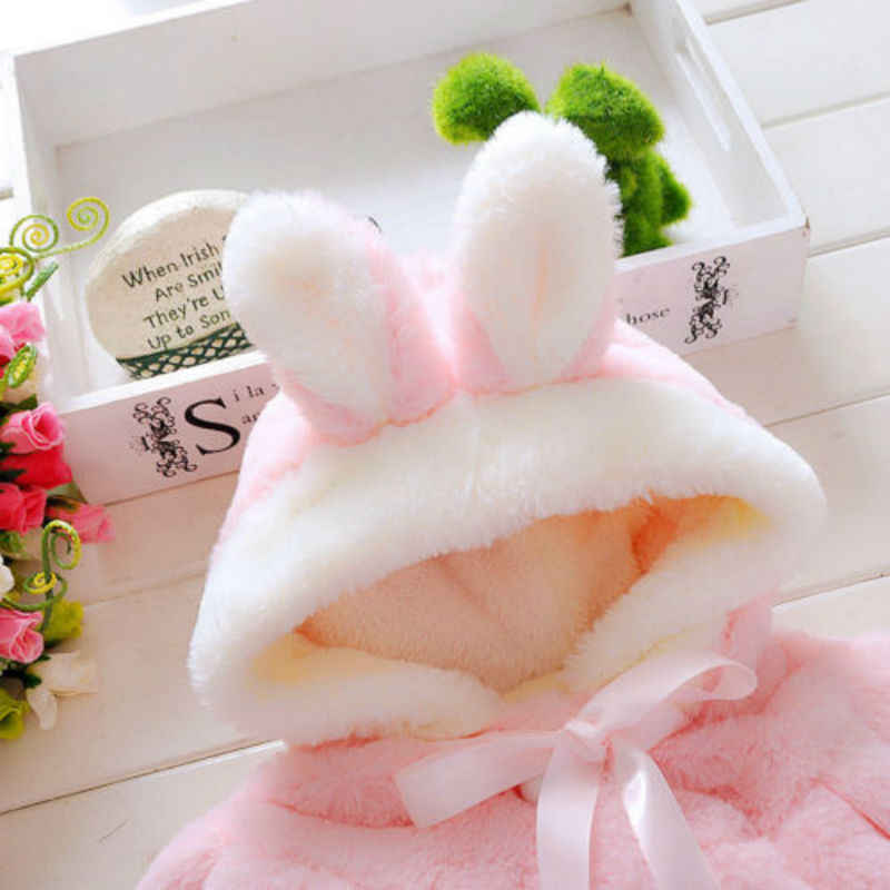 Winter Girls Faux Fur Coat 2019 New Fleece Warm Pageant Party Warm Snowsuit 0-4Yrs Baby Hooded Outerwear Kids Clothes