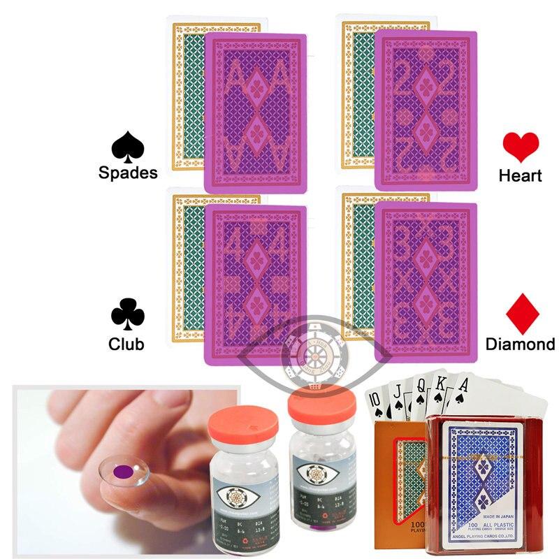 Cartes à jouer ange magique Poker Perspective lunettes Poker tricher cartes marquées Anti Gamble tricher Perspective cartes magiques