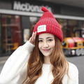 2016 New Autumn Winter Beanies Cap Hot Selling Brand Fashion Women Wool Knitted lovely Hat Casual Cap With Pompom Ski Gorros Cap