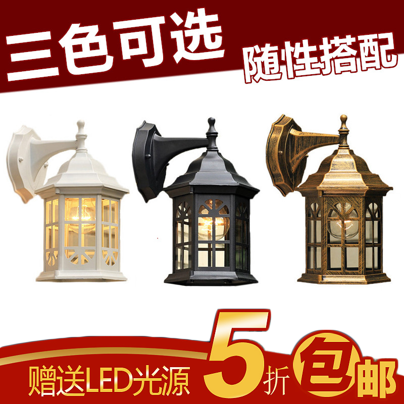 Fashion brief modern outdoor wall lamp balcony american gazebo waterproof wall lamp outdoor balcony fashion wall lamp gazebo waterproof outdoor rustic wall lamp