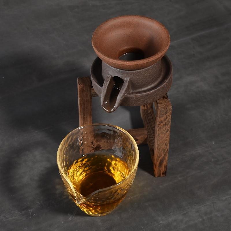 PINNY Taste Stone Mill Tea Strainers Ceramic Hand Made Tea Leaf Spice Filter Retro Kung Fu Tea Set Chinese Tea Service