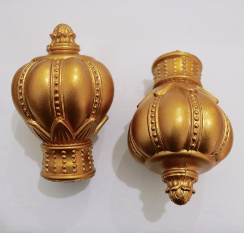 4 Pieces / Lot Diameter 28mm Roman Batang Tirai Dekoratif Crown Kepala Sealing Plug Curtain Aksesoris