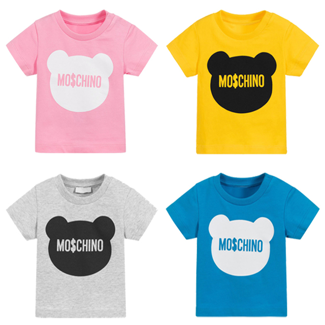 2019 new summer children's t-shirts for girls animal print baby boys t shirt kids tops cotton toddler child tee clothes