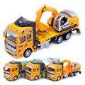 3 шт./лот 1:48 металл и пластик отступить инженерной грузовых автомобилей конструкторы