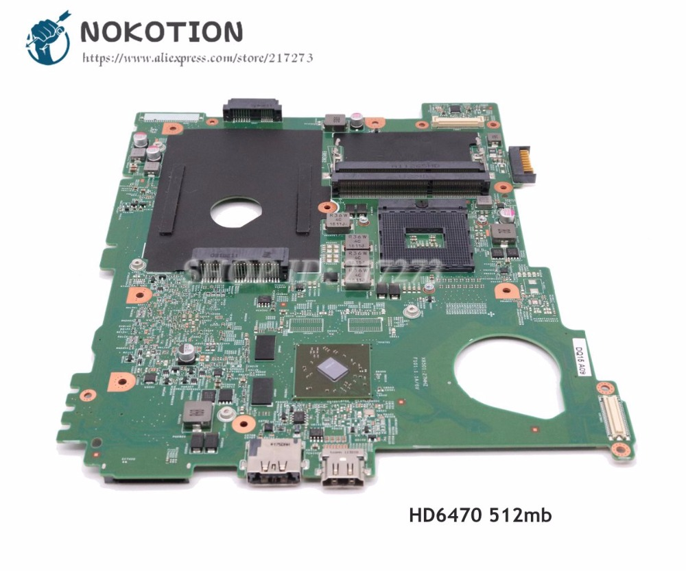 NOKOTION For Dell Inspiron 15R N5110 Laptop Motherboard CN-0NKC7K 0NKC7K Main Board HM67 DDR3 HD6470M 512mb nokotion cn 0j2ww8 laptop motherboard for board inspiron n5110 nvidia gt525m 1gb graphics hm67 ddr3 core i7 mainboard