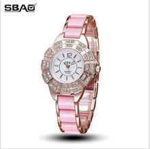 2018 SBAO Brand Fashion Watch Women Luxury Ceramic And Alloy Bracelet Analog Wristwatch Relogio Feminino Montre Relogio Clock