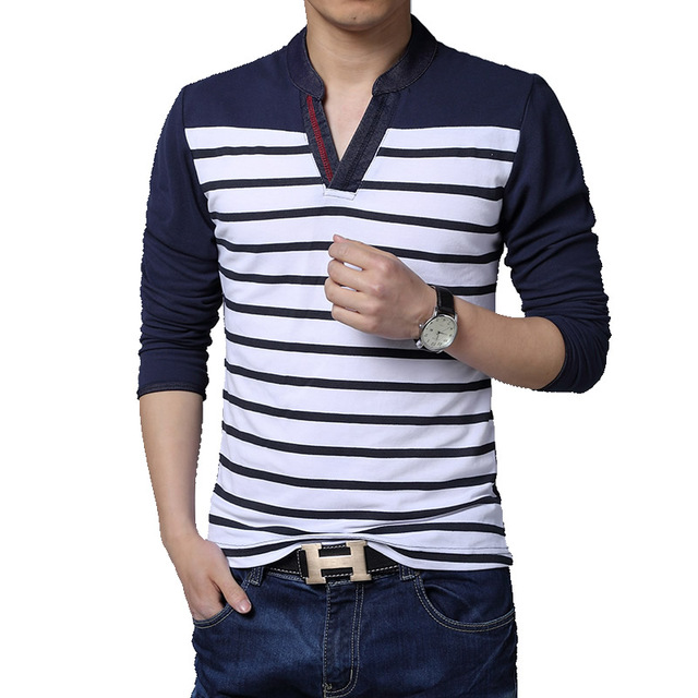 Aliexpress.com : Buy 2016 NEW patchwork V neck casual striped t ...