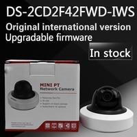 Wholesale English Version IP Camera 4MP WDR Mini PT Network Camera DS 2CD2F42FWD IWS