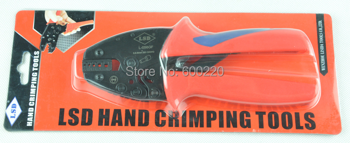 L-05WF wire-end crimping tool 0.5-6mm2 cord-end ferrules crimper