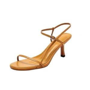 Image 3 - Доставка в доставку в течение 3 дней, Новинка Лето 2019, женские пикантные сандалии на высоком каблуке