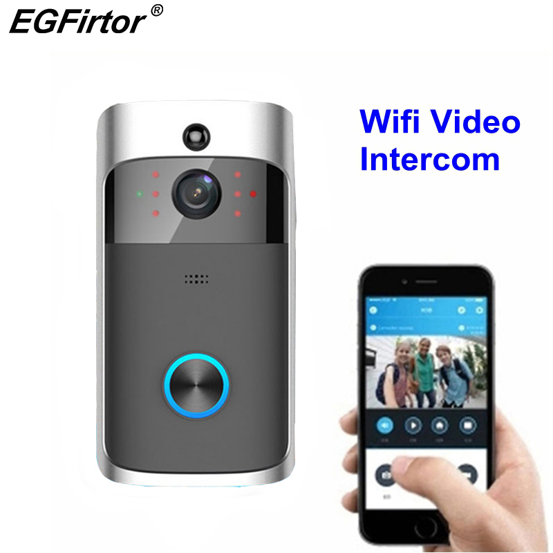 Intelligent WIFI Video Door Ring Wireless Video Door Ring Mobile Phone Remote Home Monitoring Video Speech Interview