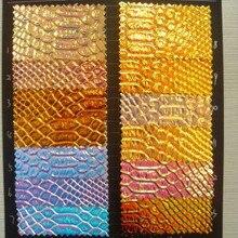 0.7 мм с голографической отделкой обувь ткань/кожаная обивка ткань/синтетический PU из змеиной кожи/Искусственной Змеиной кожи, ткани