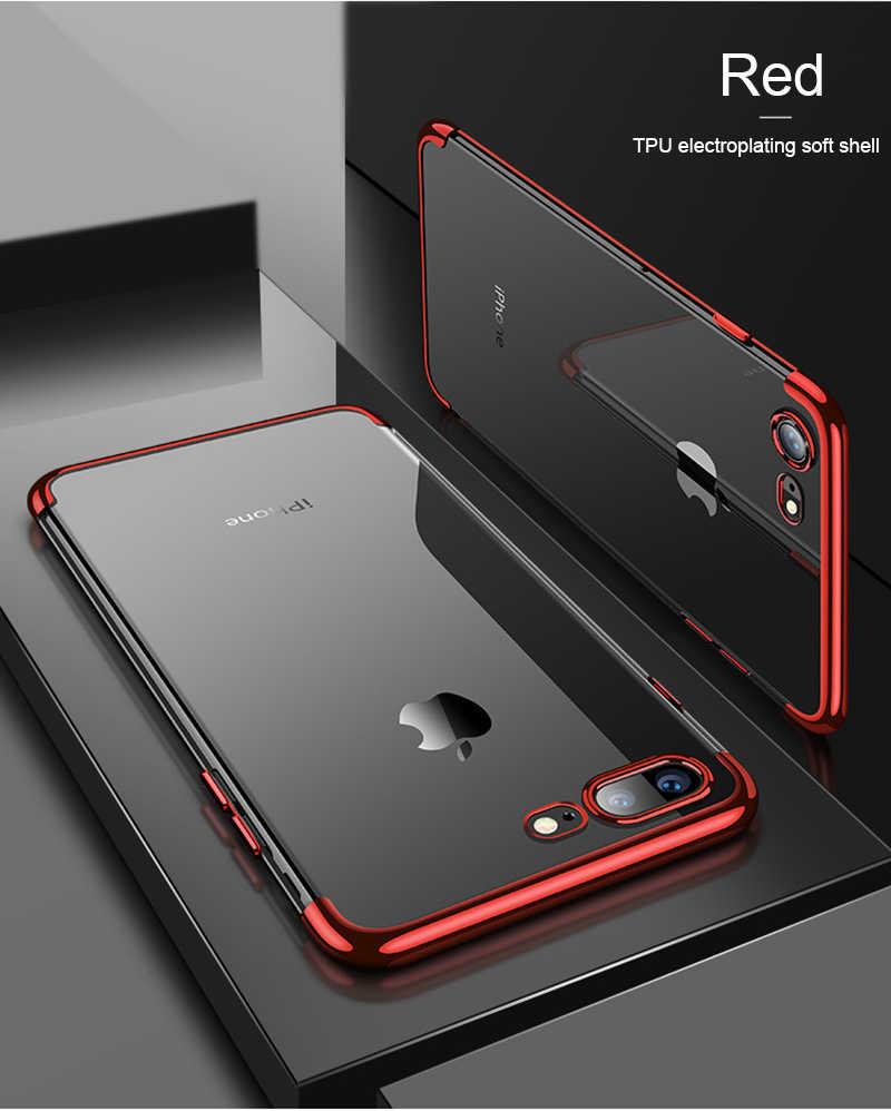 Silicio claro suave para iPhone X 10 XR XS Max iPhone 6 iPhone 6 S 6 6 s 7 7 6 Plus funda fina de lujo para teléfono móvil 6 SPlus 7 Plus 8 Plus