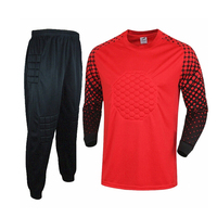 Soccer Goalkeeper Dress Set Long Sleeve Top Male Professional Training Kit Running Kit Outdoor Sports Basketball