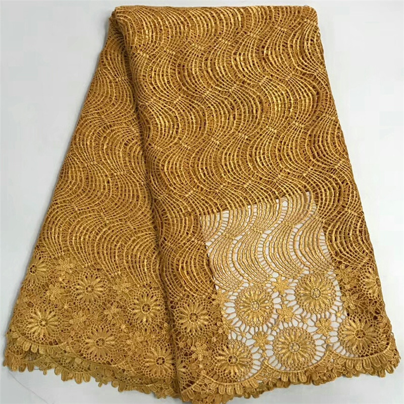 ARW47 Free Shipping pure color embroidered waves and flowers design Water Soluble lace good quality African Cord lace FabricARW47 Free Shipping pure color embroidered waves and flowers design Water Soluble lace good quality African Cord lace Fabric
