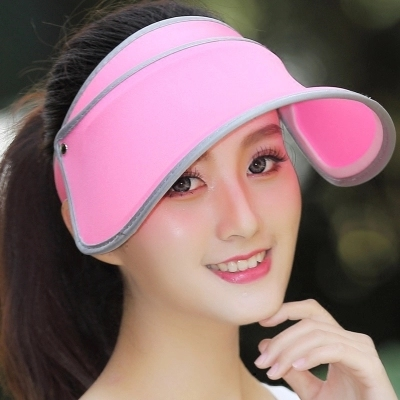 4f130ce358b Folding Hat Lady Korean Hat Summer Empty Travel Along Uv Sun Hat Adult Women  Casual Solid Hats For Women Sun Visors For Women