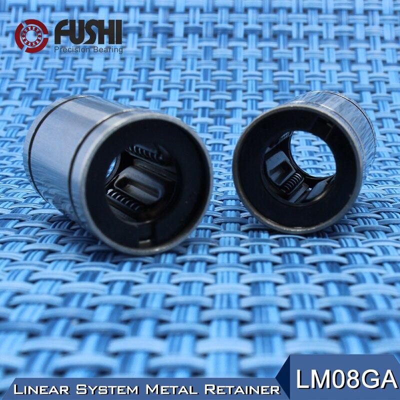 LM8GA Linear Ball Bearings 8x15x24mm ( 1 PC ) CNC Metal Steel Retainer Linear Bushing LM8UU Shaft 8MM LM8 GA Bearing 8pcs lot sc8v scv8uu 8mm linear bearing bushing lm8uu linear ball bearing for 8 mm linear shaft