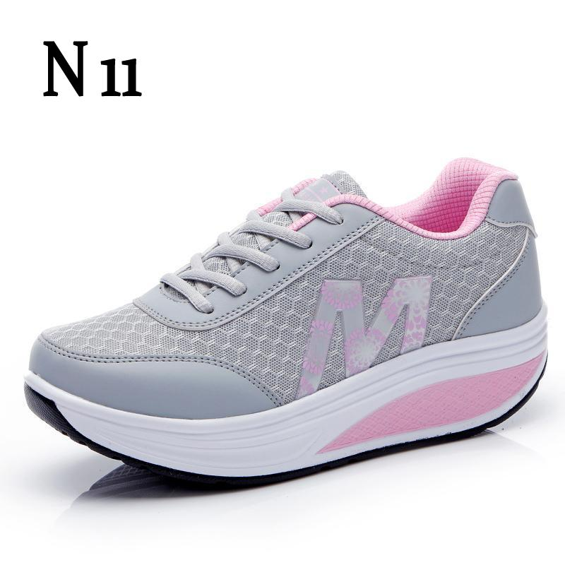 N11 New 2017 Height Increasing Women Casual Shoes Sport Fashion Shoes For Women Platform Swing Wedges Shoes Shoes For Female hot height increasing 2016 summer shoes women s casual shoes sport fashion walking shoes for women swing wedges shoes breathable