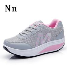 N11 New 2017 Height Increasing Women Casual Shoes Sport Fashion Shoes For Women Platform Swing Wedges Shoes Shoes For Female