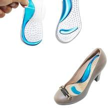 Арка каблуке высоком non-slip стельки сандалии силико колодки женщина подушка пара