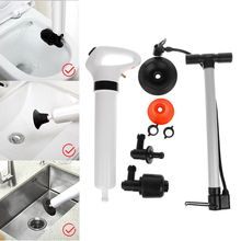 High Pressure Powerful Manual Air Drain Toilet Plunger Dredge Clog Remover For Toilets Kitchen Bathtub Showers Sink