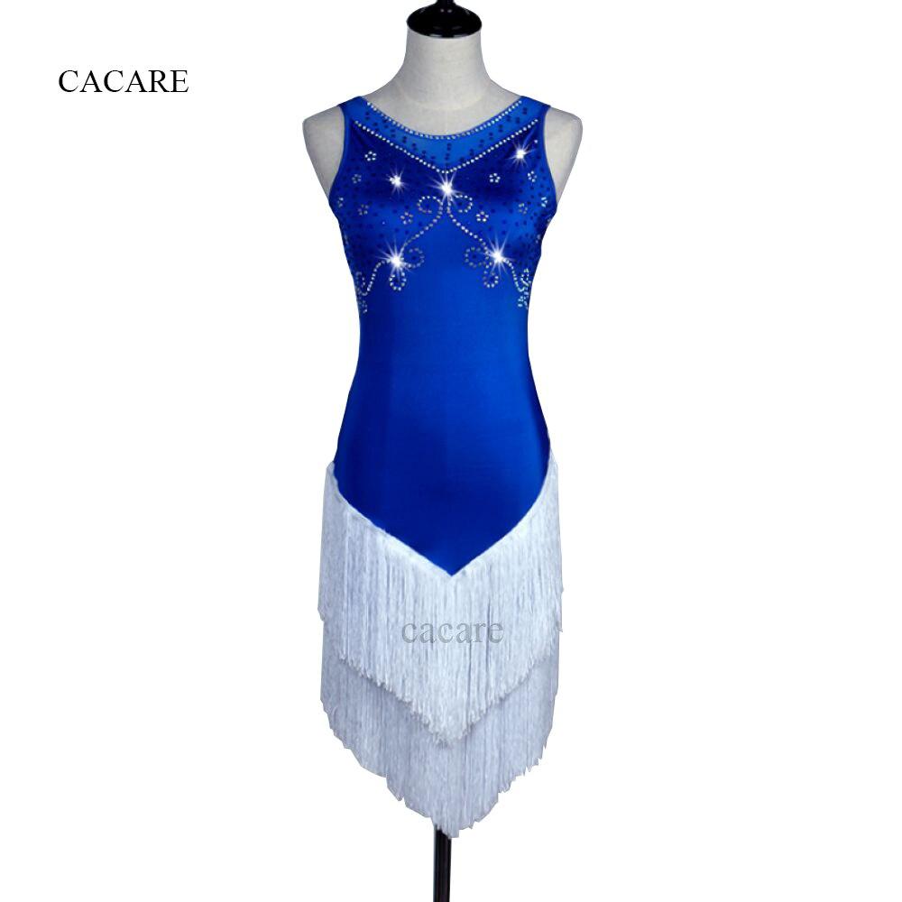 Latin Dance Dress Women Girls Latin Dance Competition Dresses Salsa Samba Costumes D0227 Shinning Rhinestones Mesh Back
