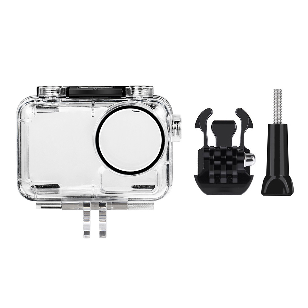 Image 2 - 40M Diving Go Waterproof Pro Housing Case Cover Box Accessories For DJI OSMO Action Camera Shell Accessories Sports Cam-in Sports Camcorder Cases from Consumer Electronics