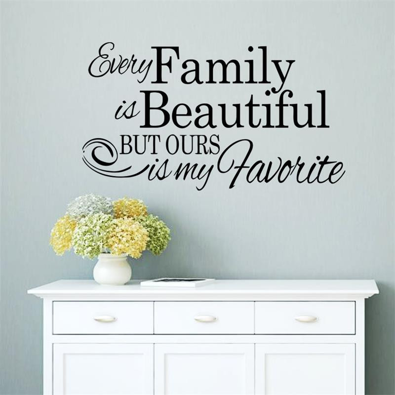 Aliexpress.com : Buy Every Family Is Beautiful Inspiring Saying Creative Quote  Wall Decal Decorative Adesivo De Parede Removable Vinyl Wall Sticker U0026 From  ... Part 41