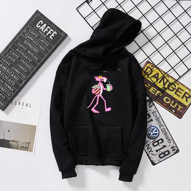 Liva girl drinking pink panther bts sweatshirt harajuku riverdale clothes blackpink