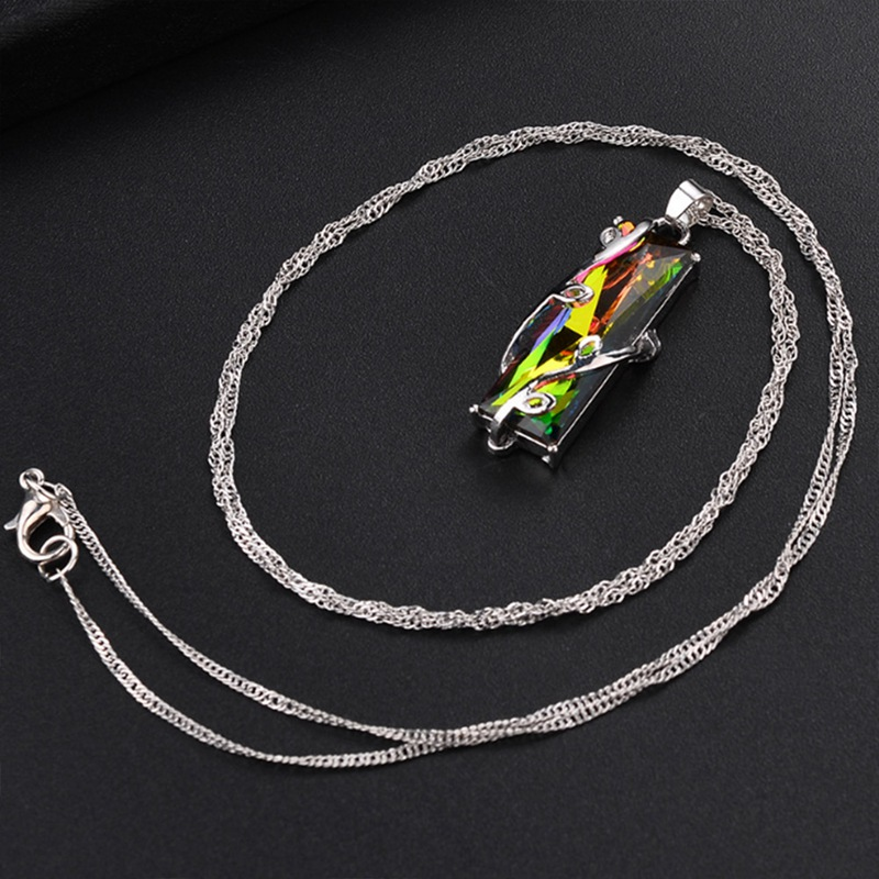 RAINBOW CRYSTAL PENDANT NECKLACE 4