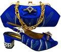 Последние дизайн Итальянские Туфли с Сопрягая мешки Для Партии африканский обувь И Сумки Набор хорошее качество высокие каблуки для леди MWU1-27